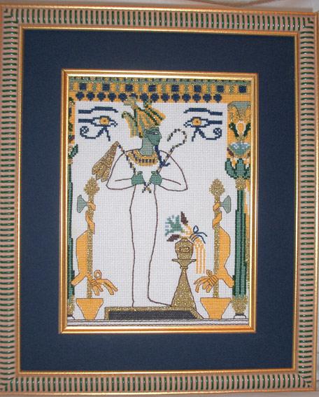 Вышивка:Египетская фреска