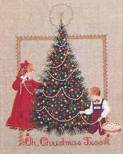 Рождественская елка вышивка