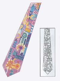 Вышивка крестом на галстуке