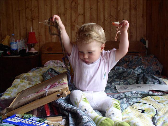 Моя дочурка Настенька