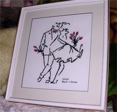 подарок на свадьбу вышитый крестом