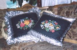 подушки вышитые крестом